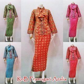 Model Seragam Baju Batik Wanita Setelan Rok Blus Busana