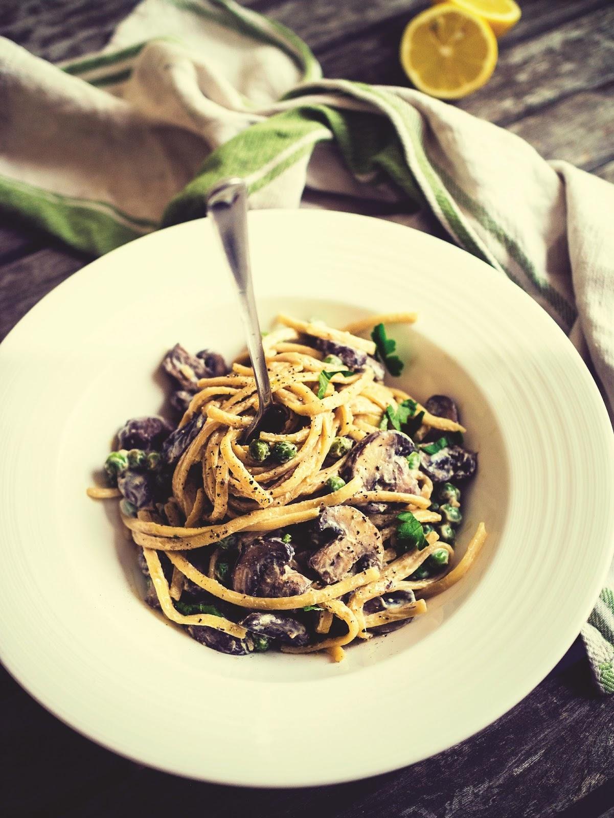 Creamy Mushroom Linguine: World Meat Free Day