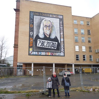 Street Art en Glasgow, Billy Connolly.