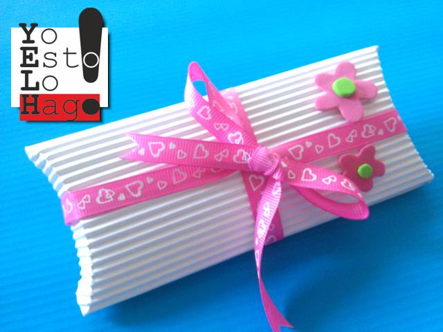 caja para regalo de papel corrugado