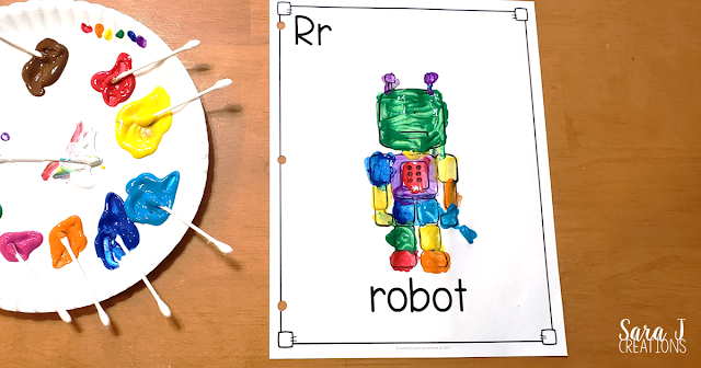 R is for rainbow robot art book