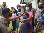Prihatin Nasib 7 Anak Almarhum Rianto, Kapolres Samosir Berbagi Kasih