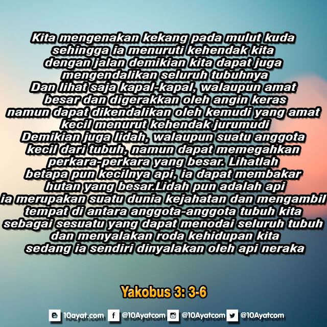 Yakobus 3: 3-6