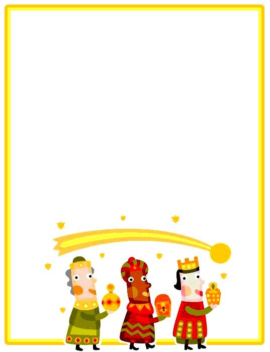Bordes decorativos bordes decorativos de carta a los - Dibujos decorativos de navidad ...