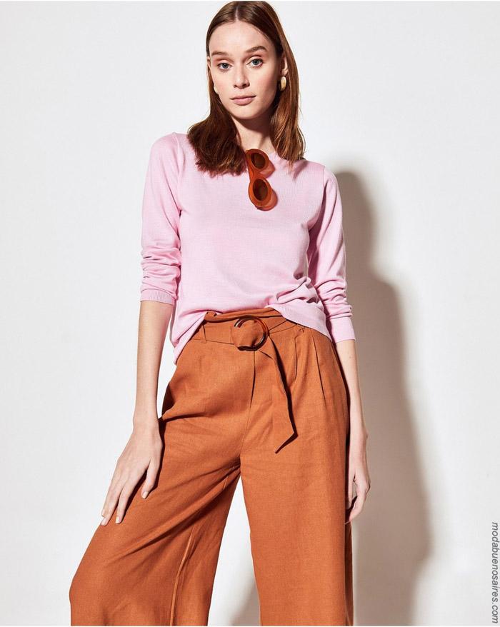 Remeras y pantalones primavera verano 2020 moda mujer.