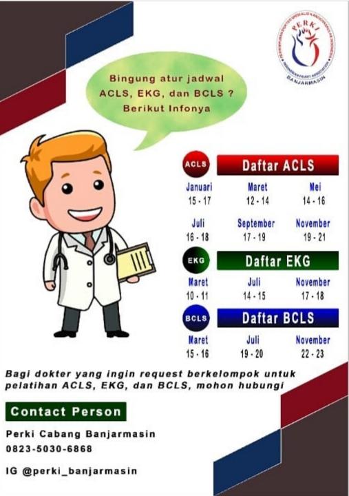 Jadwal ACLS PERKI Banjarmasin Tahun 2021