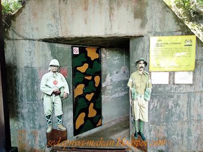 pintu masuk ke kubu bawah tanah