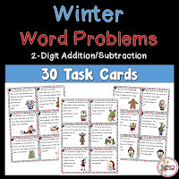Winter 2 Digit Addition and Subtraction Word Problems
