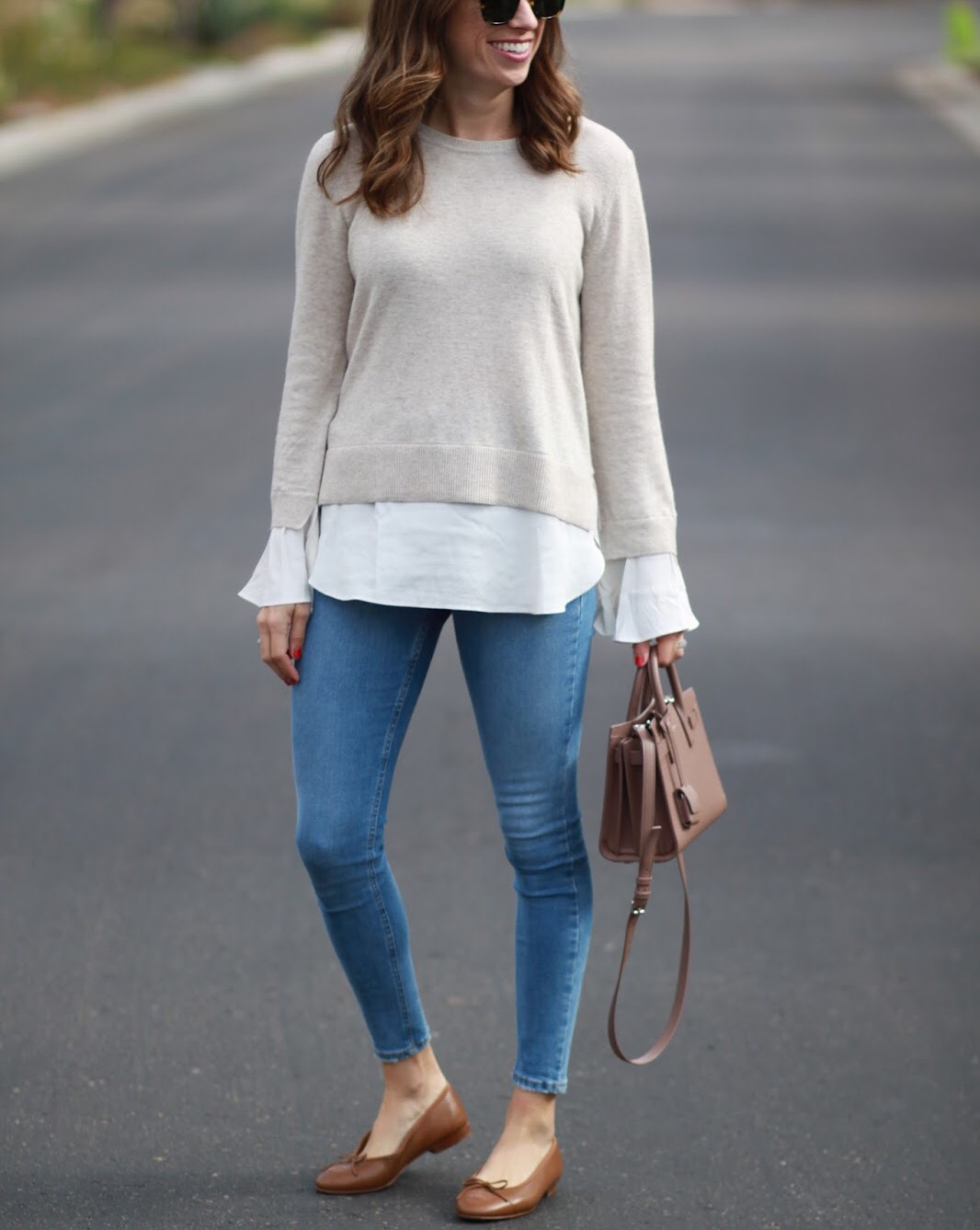 two in one sweater outfit