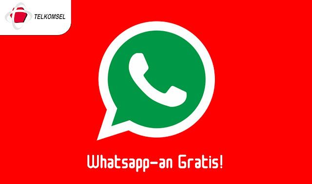 Cara Whatsapp-an Gratis Tanpa Kuota Dengan Kartu Telkomsel
