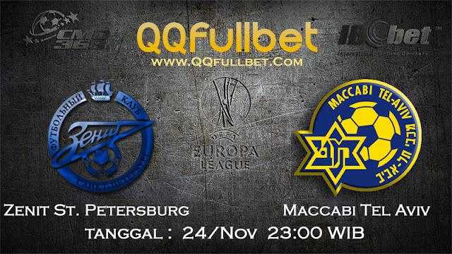 PREDIKSIBOLA - Prediksi Taruhan Bola Zenit St. Petersburg vs Maccabi Tel Aviv 25 November 2016 (UEFA Europa League)