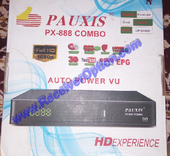 PAUXIS PX-888 COMBO HD RECEIVER NEW SOFTWARE WITH XTREAM IPTV 30 OCTOBER 2020