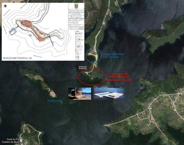 Projecto para a praia fluvial de Alqueidão