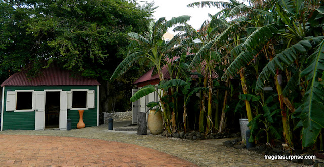 Casa de senzala no Museu Kura Hulanda, Curaçao