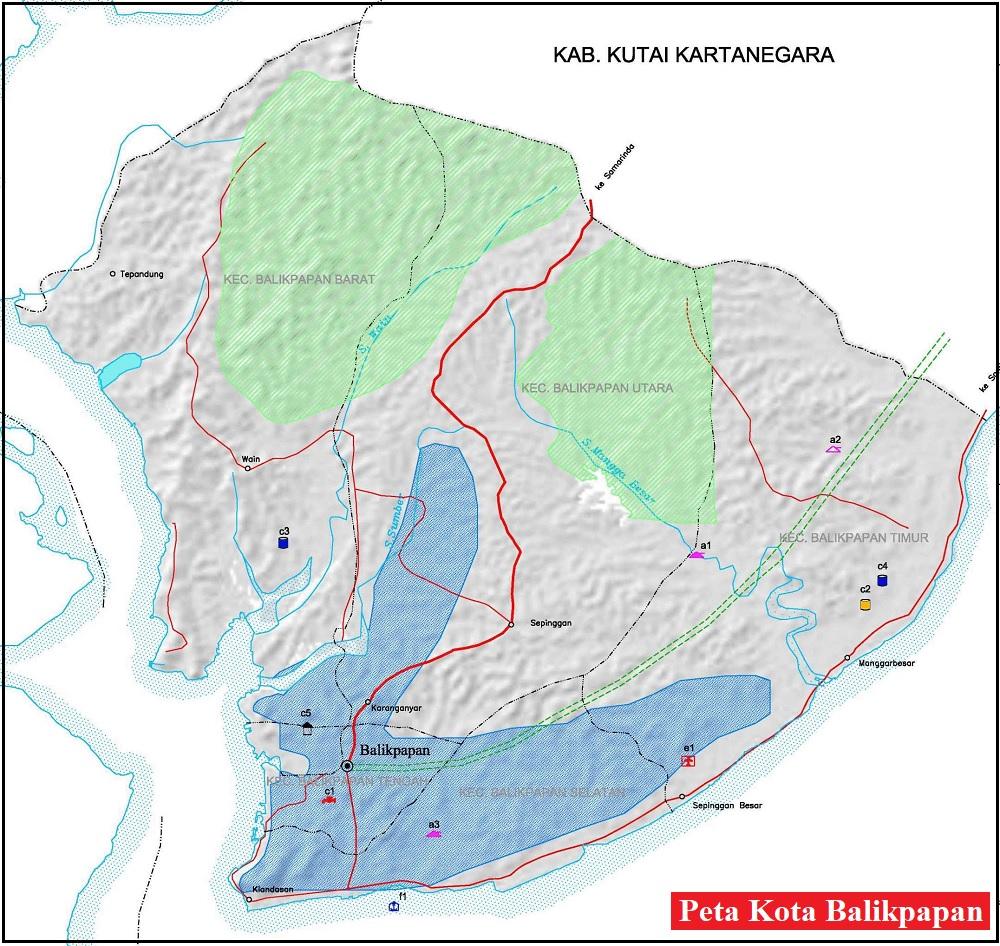 Peta Kota Balikpapan HD Lengkap