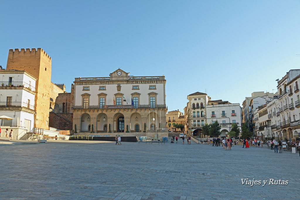 Ayuntamiento en la plaza Mayor de Cáceres, Extremadura