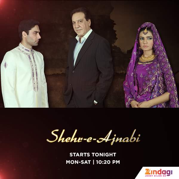 'Shehr-e-Ajnabi' Zindagi Tv Serial Wiki Story,Cast,Promo,Title Song,Timing,Pics