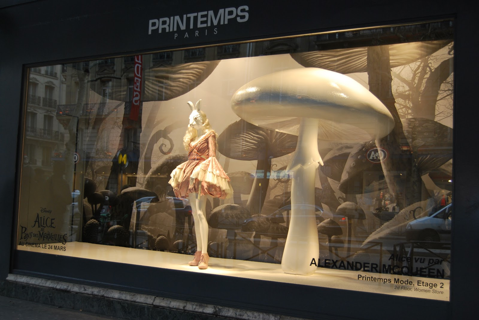 c97aba541c8e2 Their windows coincided with the launch of Tim Burton's Alice in  Wonderland. Showcasing designers such as the late Alexander McQueen the  giant props create ...