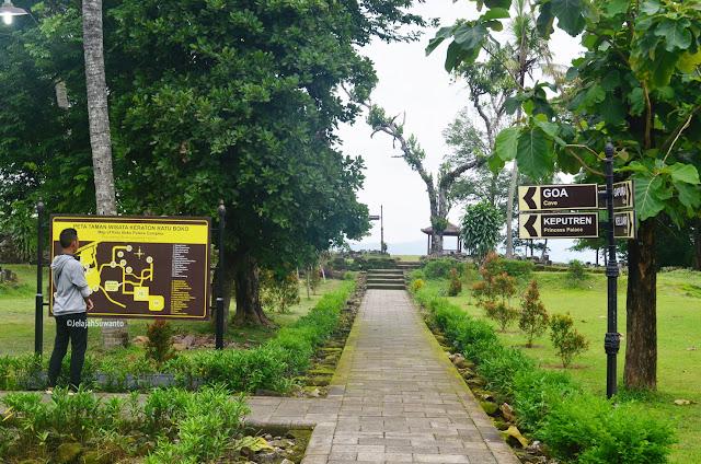Peta Taman Wisata Keraton Ratu Boko ©JelajahSuwanto