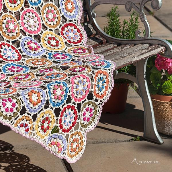 """Garden Party"" crochet blanket by Anabelia Craft Design"