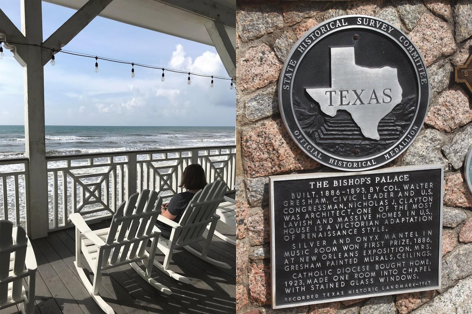 Bishops palace Galveston, Murdoch's Galveston, beach views Galveston, ocean in Galveston, rocking chair looking at beach