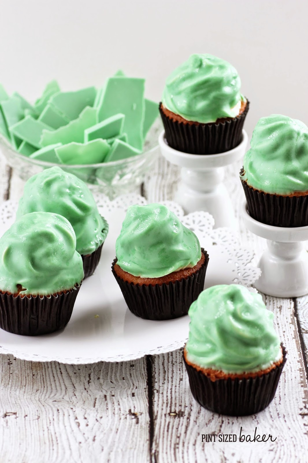 Green Apple High Hat Cupcakes are easy to make and are so fun to eat!