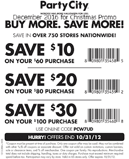 free Party City coupons for december 2016