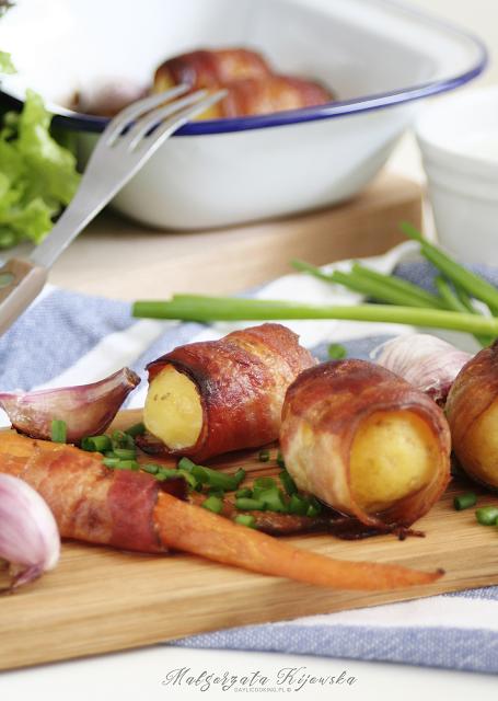 ziemniaki na grilla, ziemniaki z boczkiem, ziemniaki z grilla, daylicooking, letnie przekąski