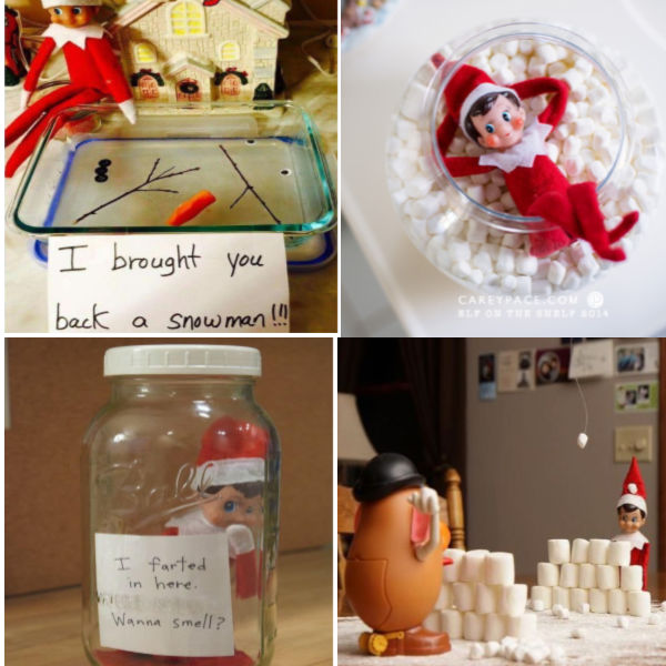 Do you need ideas for your elf this year?  Here are over one hundred fun and creative elf-on-the-shelf ideas for you to surprise the kids with this Christmas. #elfontheshelf #elfontheshelfideas #elfontheshelfideasfortoddlers #elf #elfontheshelfideasforkids #elfontheshelfideasfunny #elfideas #christmasactivitiesforkids #growingajeweledrose #activitiesforkids #funthingstodowiththeelfontheshelf