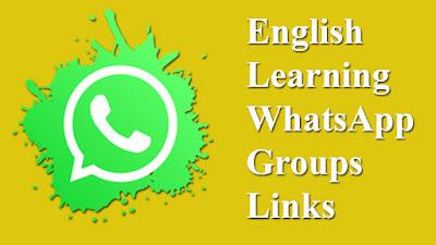 English Learning WhatsApp Groups Links