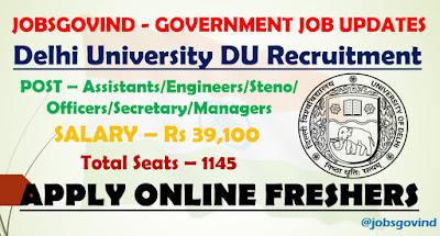 DU NTA Recruitment 2021