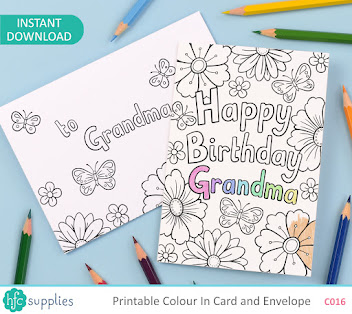 Printable Colour In Cards in my Etsy shop