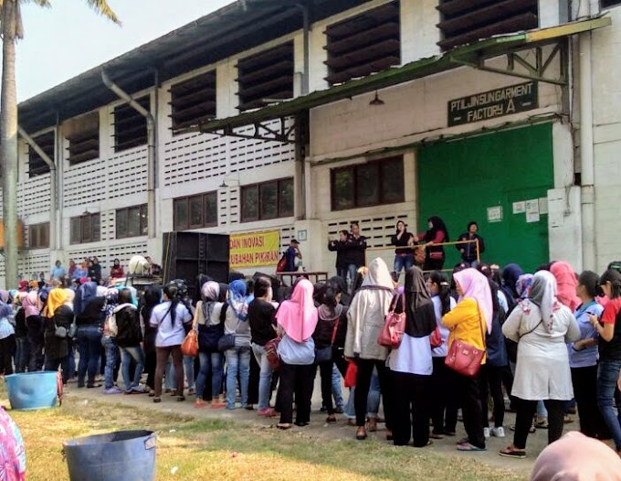 Ribuan Karyawan PT ILJIN SUN Lakukan Aksi Tuntut Gaji Dua Bulan