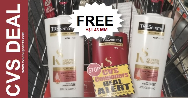 FREE Tresemme Pro Collection CVS Deal 12/8-12/14