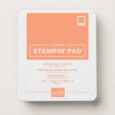 This image shows a photograph of the Grapefruit Grove Classic Stampin' Pad ink pad by Stampin' Up!