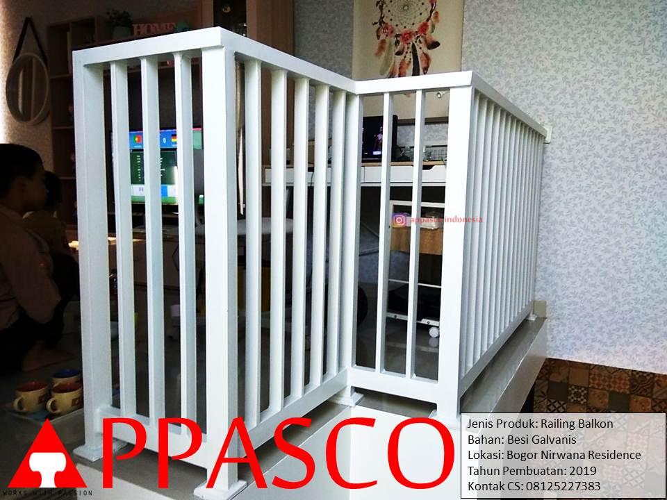 Railing Balkon Minimalis di Bogor Nirwana Residence