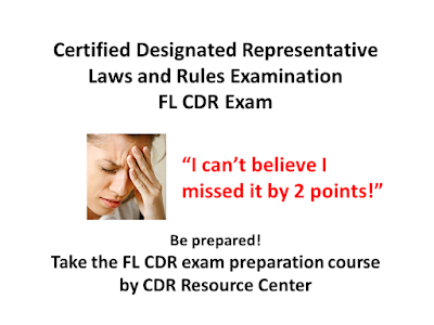 Florida CDR Examination Prep Course for Certified Designated Representative license applicants