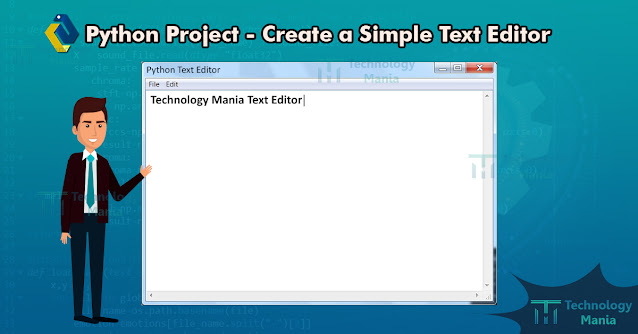 python project text editor
