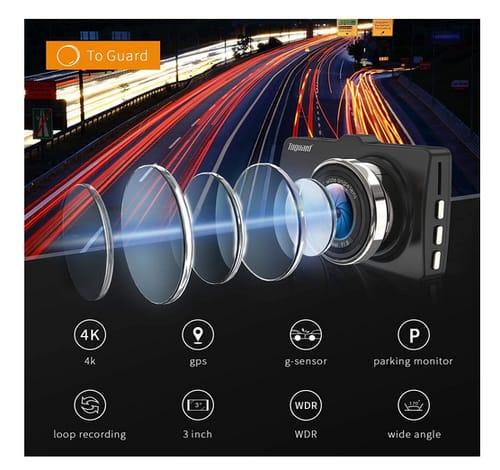 TOGUARD CE50G Dash Cam 4K Ultra HD Dash Car Camera
