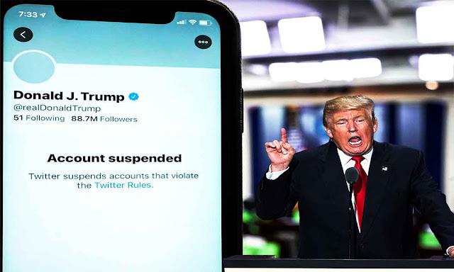 تويتر - twitter تعلن حظر حساب ترامب نهائيا