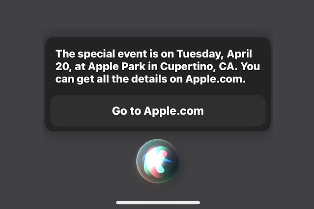 Siri Reveals the Date and Location of Apple's Upcoming Event