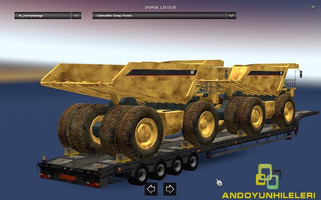 Euro Truck Simulator 2 Ağır İş Makina Dorseleri Modu