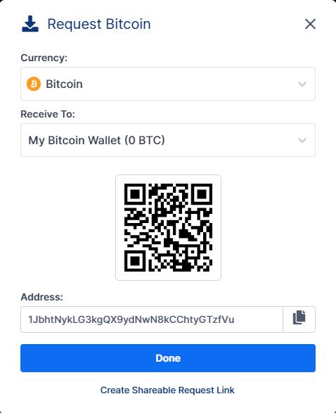 طريقة إستقبال العملات الرقمية