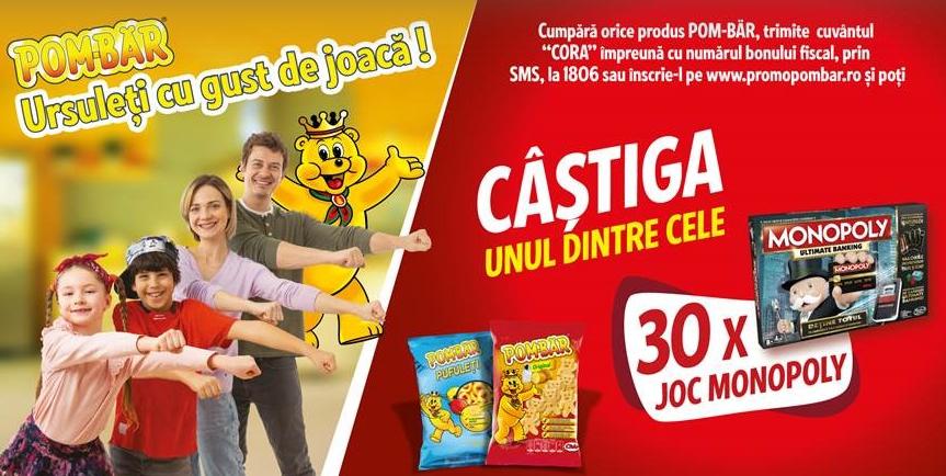Concurs POM-BAR 2021 - Castiga 30 de jocuri Monopoly - concursuri - online