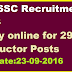 UPSSSC Recruitment 2016  Apply online for 293 Instructor Posts