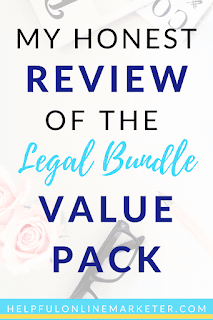 Protecting yourself as a blogger or biz owner is really important. The Legal Bundle Value Pack has everything a blogger or online business owner should include on their site. The Legal Bundle comes with 3 legal templates you must have on your blog or site plus bonuses. Read my blog post to find out why you need these templates plus how to get them! #legalpages #blogdisclaimer #blogginglegalpages