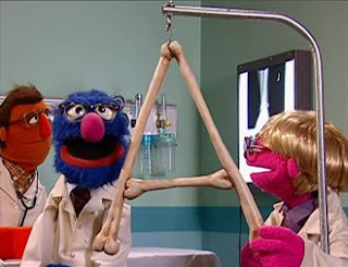 A's Anatomy: Grover appears as a doctor, he is an alphabet specialist. Sesame Street Episode 4326 Great Vibrations season 43