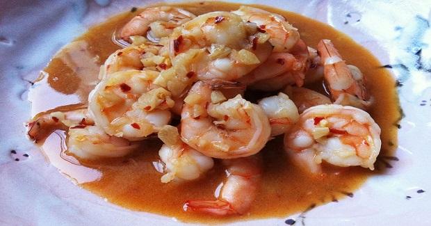 Spicy Garlic Soy Shrimp Recipe