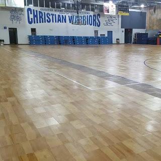 Greatmats ProCourt Gym Flooring Tiles installed Basketball Court indoor