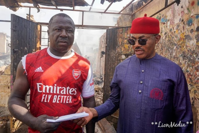 Maduka Assists Victims Of Fire Outbreak In Onitsha, Promises More Support